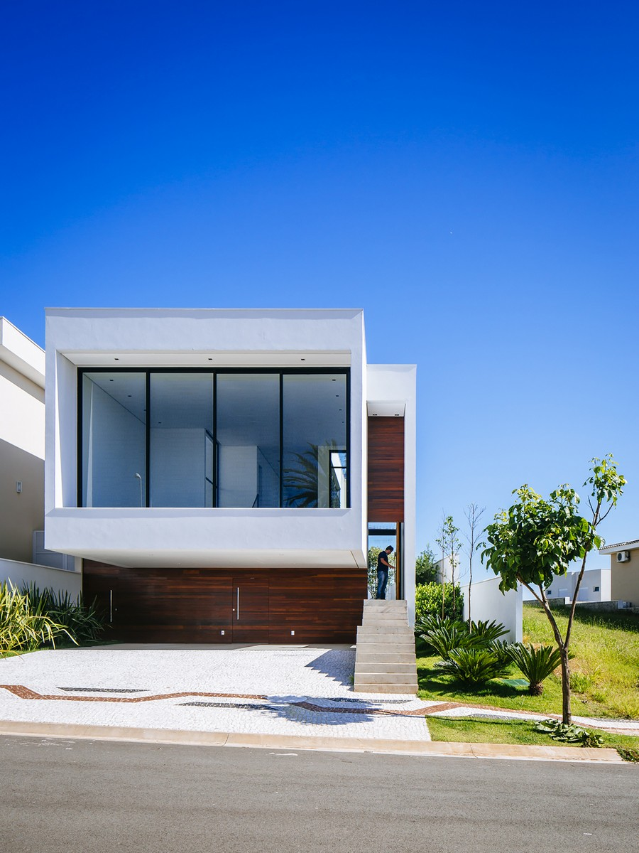Sustainable Four Level Home In Brazil Exhibiting A Bold Modern