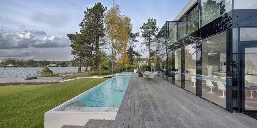 Massive Contemporary Residence Taking in Perfect Lake Views