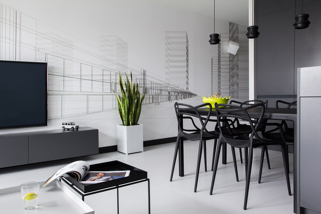 Black And White Apartment