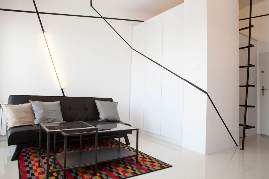 Small Apartment with Secret Storage Ingeniously Designed on a Budget ...