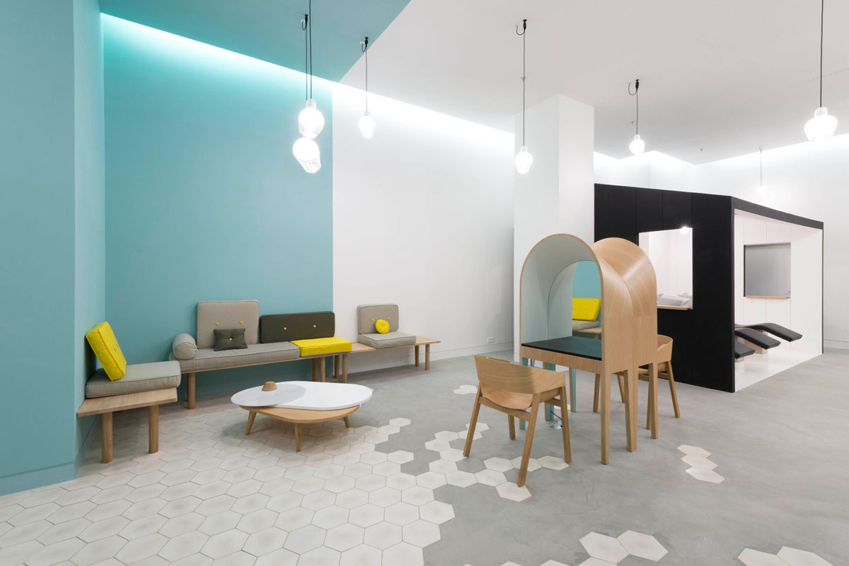 Collect This Idea Le Coiffeur Hair Salon In Marseille By Margaux Keller And  Bertrand Guillon