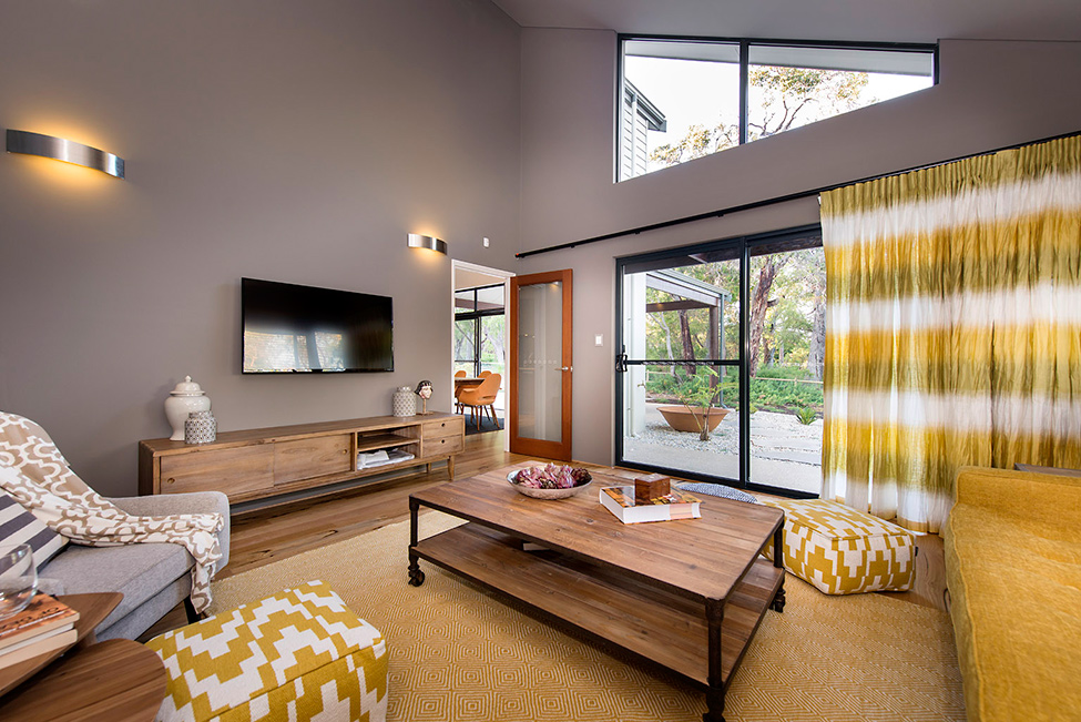 Room with yellow hues