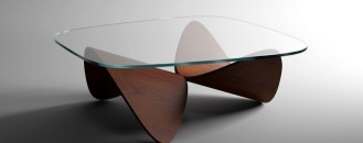 Sculptural Oak Sofa Table Inspiring Daily Balance by Sandro Lopez