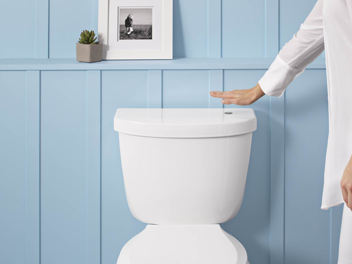Astonishing Wave To Flush Touchless Toilet Kit For Increased Bathroom Machost Co Dining Chair Design Ideas Machostcouk
