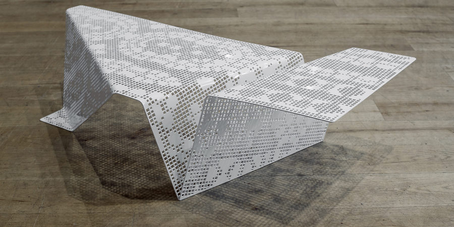 A Lasercut Table That Interweaves Technology and Tradition
