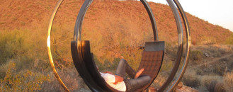 Sculptural Rotating Lounge Chair Bringing Unique Contemplation Moments