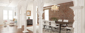Fashionable San FranciscoOffice Design with Rich Feminine Influences