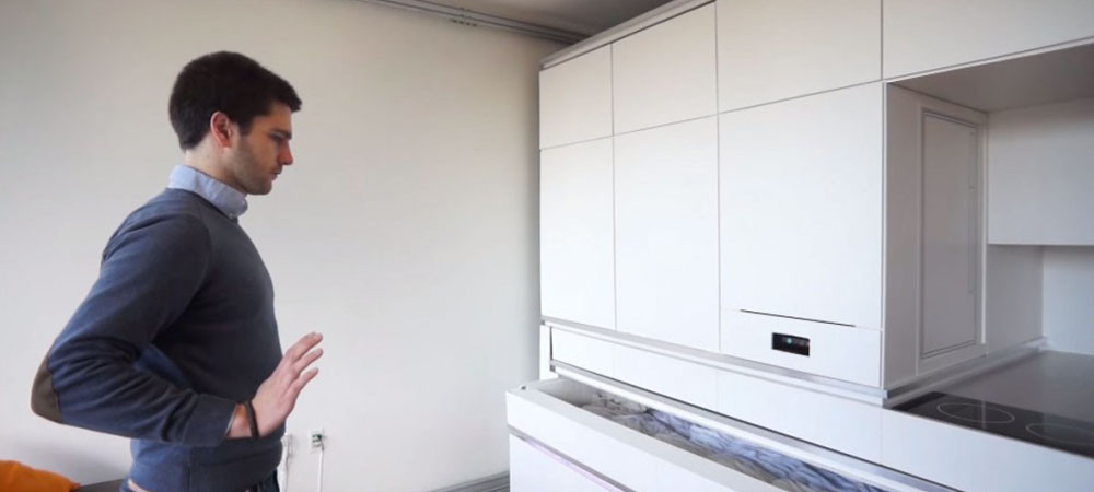 Innovative Apartment Design: One Gesture, Touch or Word to Change Function