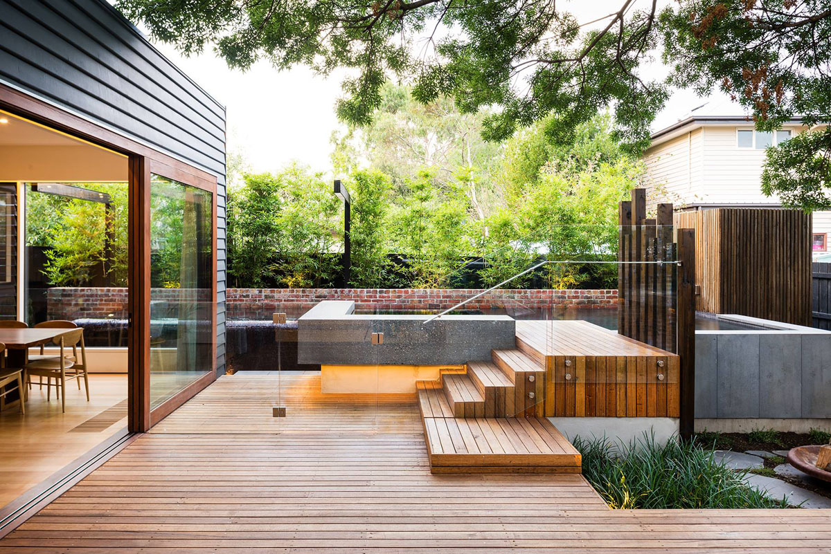 Collect This Idea Naroon Modern Backyard Project By Signature Landscapes Cos Design And Serenity Pools 2