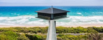Diamond-Shaped Suspended Pole House Delivers Dramatic Experiences