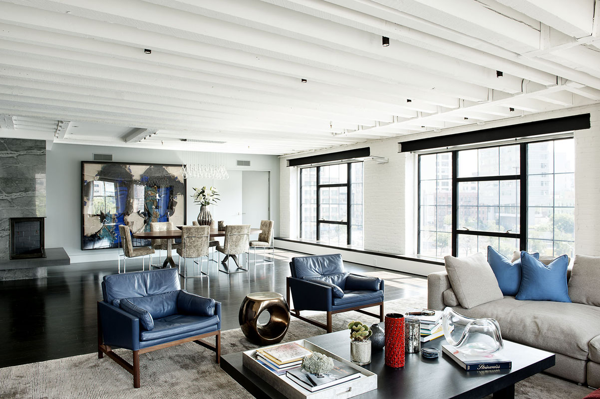 Bold colors tastefully displayed by laight street loft in new york