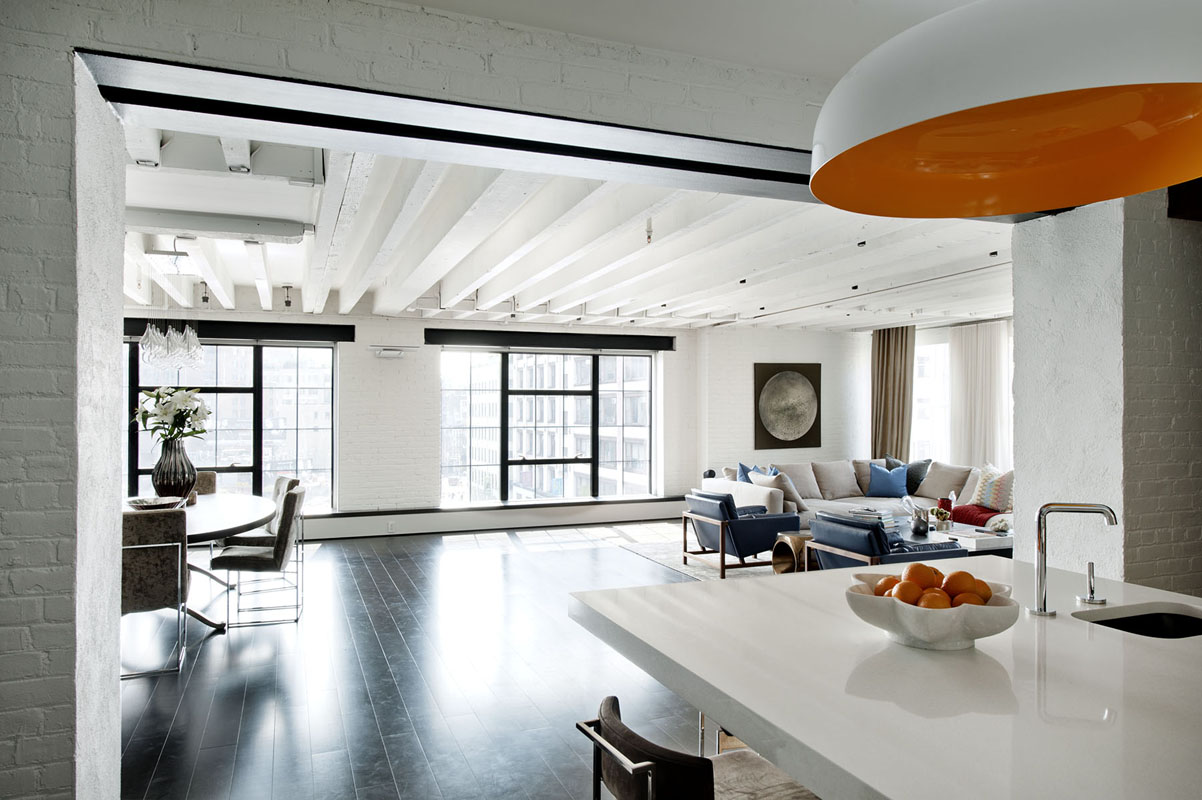 Bold Colors Tastefully Displayed by Laight Street Loft in