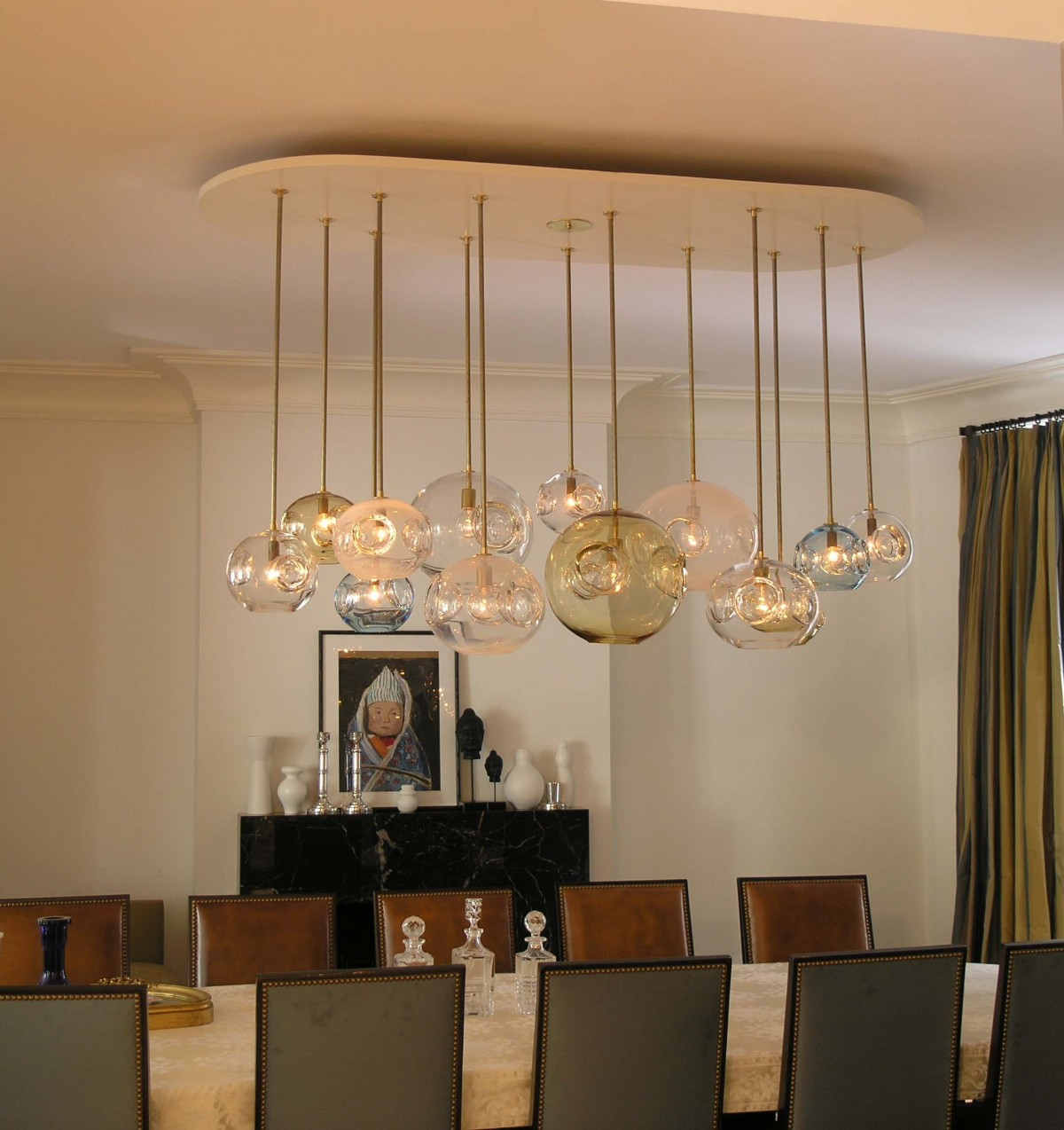 OLYMPUS DIGITAL CAMERA. Contemporary Bold Lighting In Dining Room.