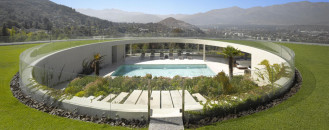 Unusual Family Residence Design Overlooking the Massive Andes in Chile