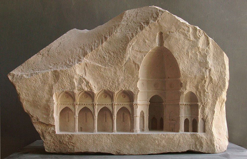 Arresting Miniature Architectural Details Carved in Stone