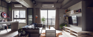 Complex Bachelor's Apartment in Taiwan with an Industrial Personality