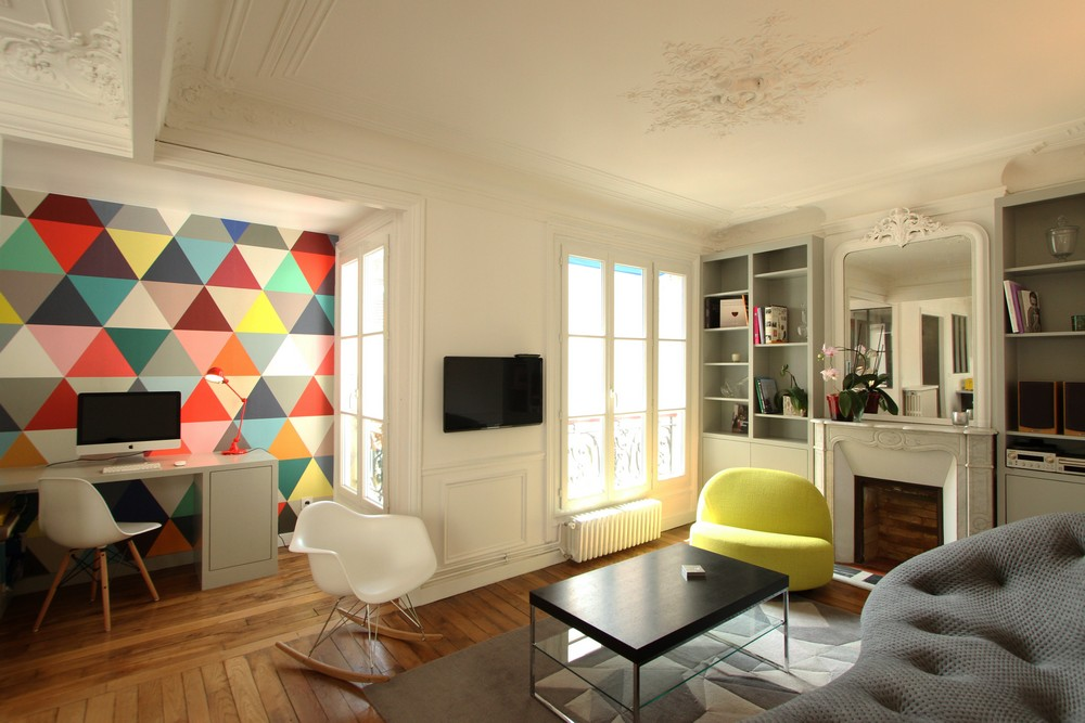 Colorful Apartment Design in the Chic 7th District of Paris