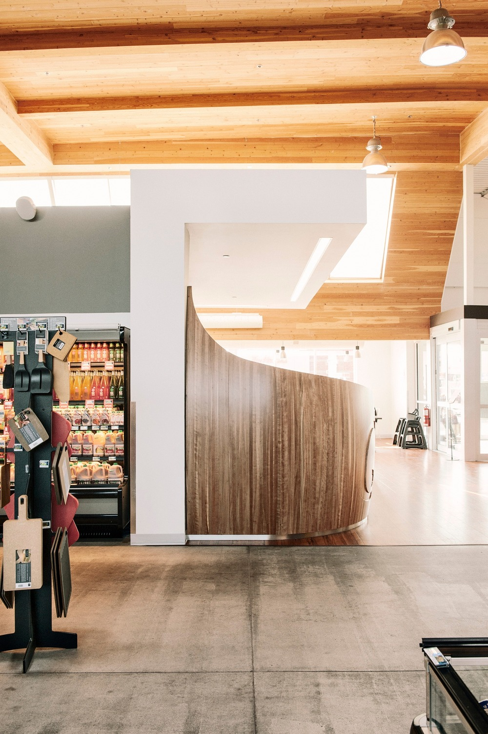 Elegant Timber Concession Stand Promoting Healthy Raw