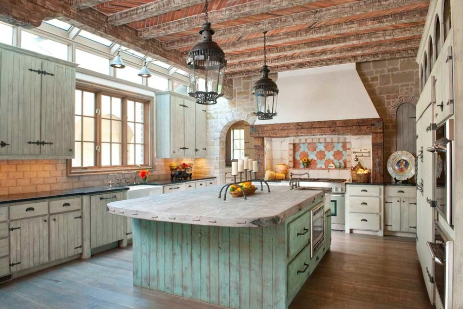 stunning Country Farmhouse Kitchen Designs Part - 3: 5) Primitive Paint