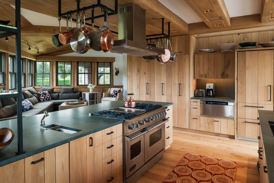 10 Rustic Kitchen Designs That Em Country Life | Freshome.com on country wooden countertops, country wood kitchen cabinets, country wood ceilings, country wood kitchen islands, country wood kitchen ideas, country wood tables,