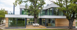 Contemporary House Integrating Trees in its Modern Architecture: 2 Oaks House by OBIA