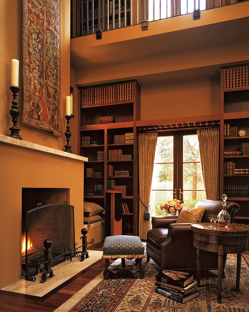 Industrial Study Room: 30 Classic Home Library Design Ideas Imposing Style