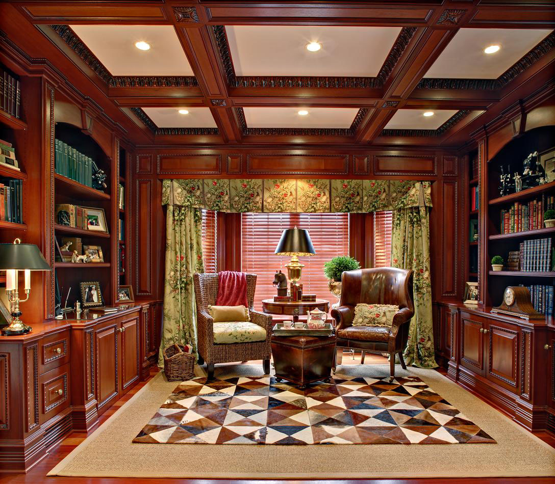 Gorgeous Updated Classic Home: 30 Classic Home Library Design Ideas Imposing Style