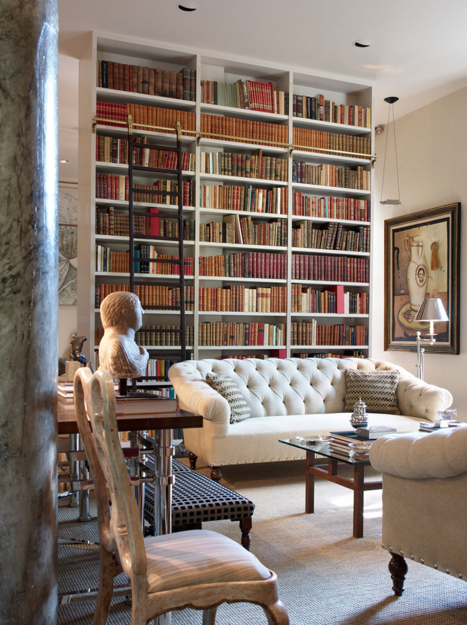 Private Library Study Rooms: 30 Classic Home Library Design Ideas Imposing Style