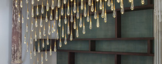 Design Haus Liberty's Staggering Light Sculpture Made from One of a Kind Crystal Droplets