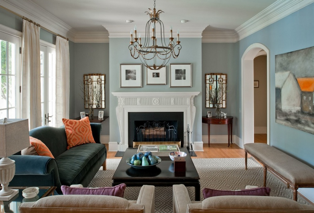 Pick colors based on what mood you want for the space. Image Via: Laura Casey Interiors