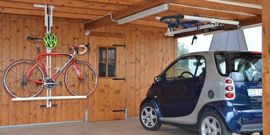 Flat-bike-lift Or How to Park Your Bicycle On The Ceiling [Video]