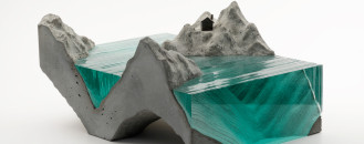 Ben Young's Handcrafted Glass Sculpture Inspired by Ocean Waves
