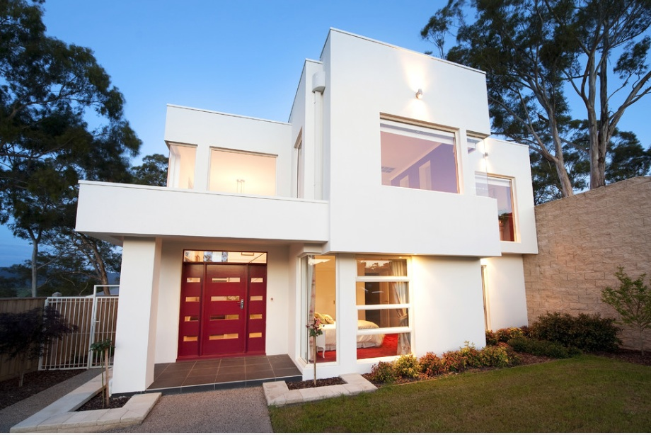 Modern Home Red Door
