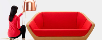 Cork Sofa Revived From Bottle CorkLeftovers: Curvaceous Corques Sofa