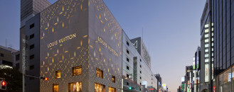 Flashy Louis Vuitton Store in Tokyo Displaying Original Pattern Cladding
