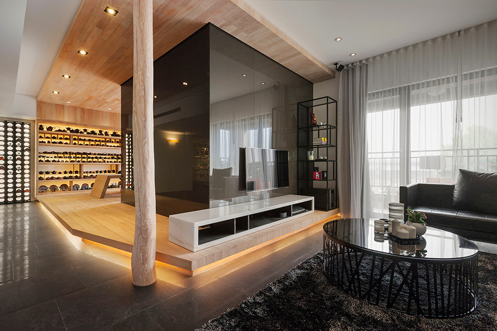 Stylish Open Plan Apartment In Taipei Showcasing Futuristic Design Ideas