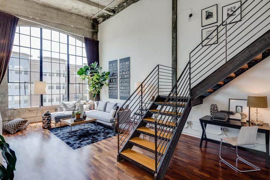 Live Work Conversion Loft In San Francisco With Vaulted Concrete Ceilings