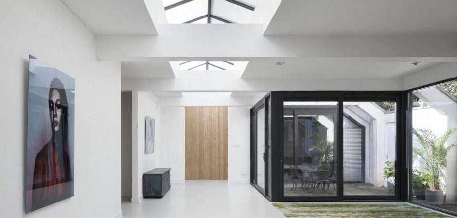 Amsterdam Garage Transformed into Light-Filled Spacious Home by i29 Interior Architects