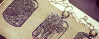 Your Favourite Place As  Jewellery: City Maps Turned Into Necklaces by Aminimal Studio