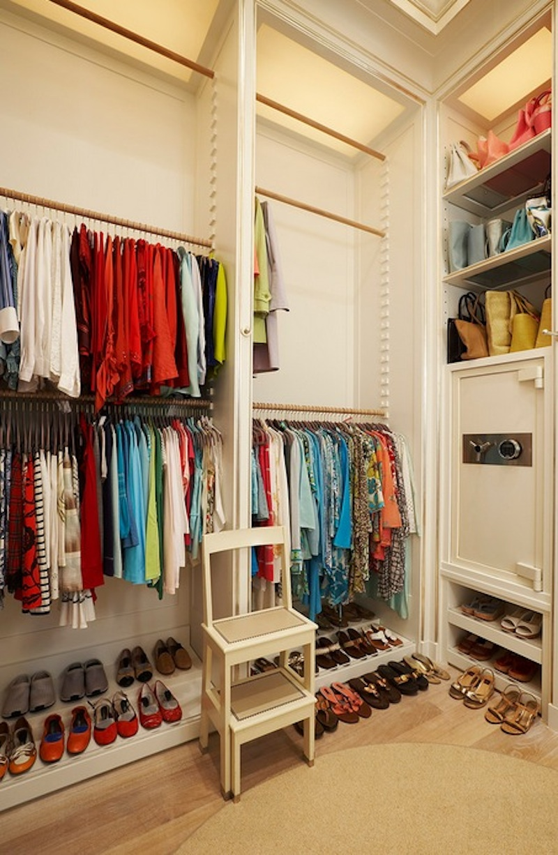 The master bedroom closet is by far the most popular place to install a home safe. Image Via: Clos-ette Too