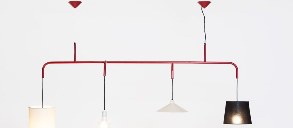 Minimalist Lighting Combo With an Industrial Twist: Vialattea Lamp by Formabilio