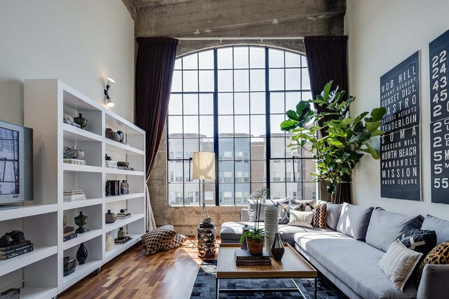 Live Work Conversion Loft In San Francisco With Vaulted Concrete