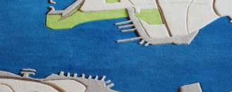 Aerial Travel Memories Translated into Comfortable Rugs: LANDCARPET by Florian Pucher
