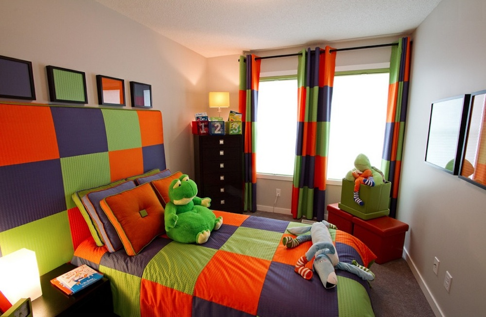The boldness of a triadic scheme makes it the perfect choice for a kid's room. Image Via: Wen-Di Interiors