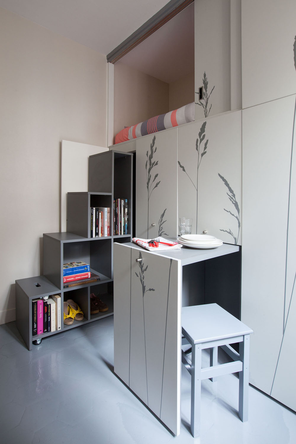 Incredibly Small Apartment In Paris Reduces Functions To Minimum