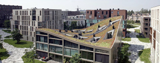 Creative Housing Block in One of Amsterdam's New Residential Neighborhoods