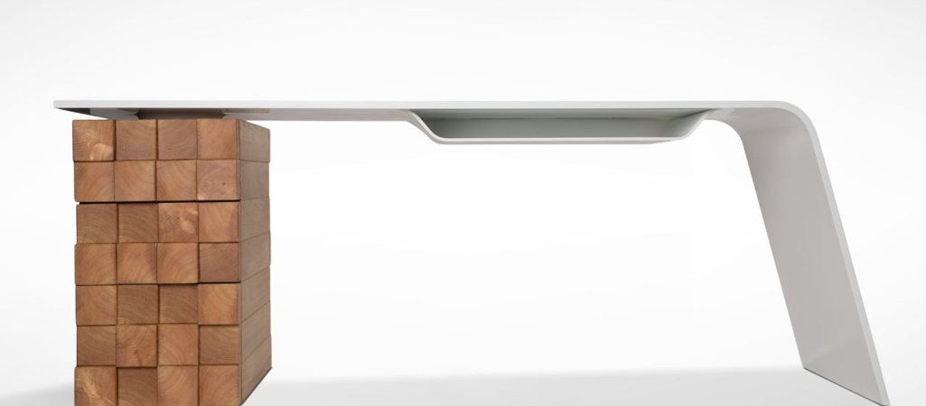 This Modern Desk Charges Your Phone Wirelessly