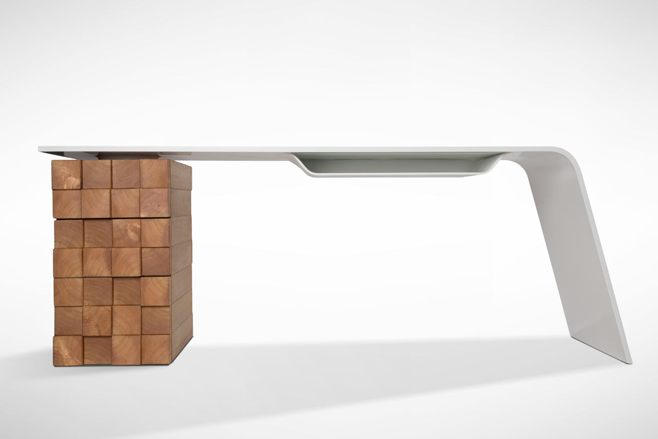 Modern Office Desk: This Modern Desk Charges Your Phone Wirelessly