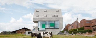 Energy-Efficient Leeuw House In Belgium Adapted To Its Countryside Landscape