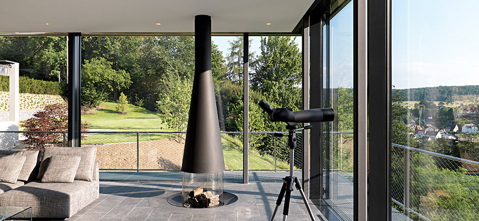 Light-Flooded Stylish Home Sculpted in the German Hillside